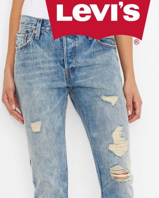 Levi's - Женские джинсы Levi's 501 - сток оптом - одежда оптом