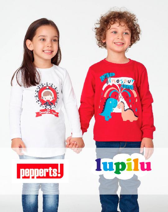 Детские футболки с длинными рукавами  Lupilu+Pepperts