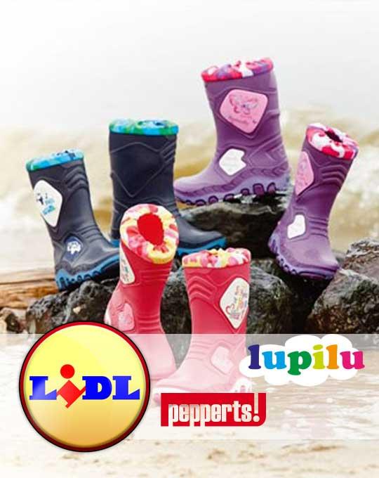 Детские резиновые сапоги  Lupilu+Pepperts