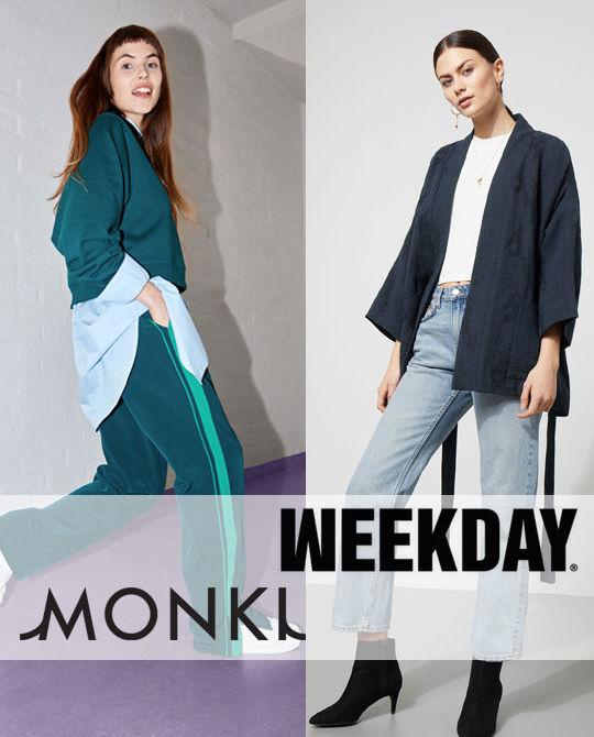 микс Monki Weekday - одежда оптом - сток оптом