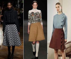 Шесть актуальных женских моделей юбок сезона осень - зима