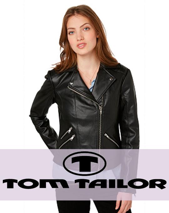 Женская кожаная  куртка Tom Tailor