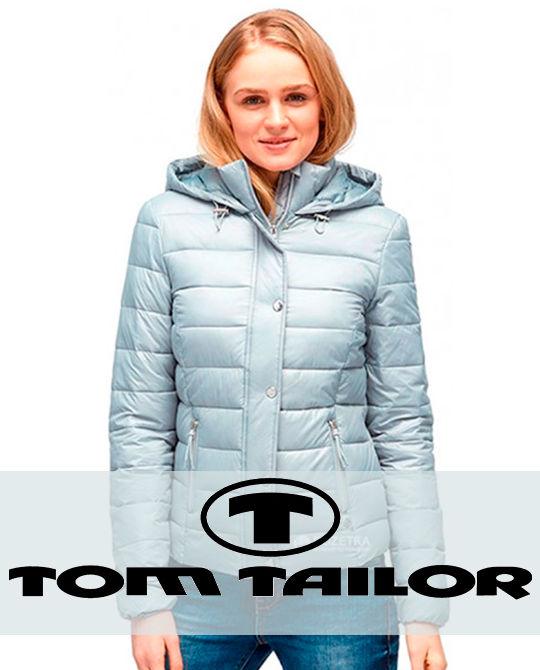 Женский ультралайт пуховик Tom Tailor - одежда оптом - сток оптом