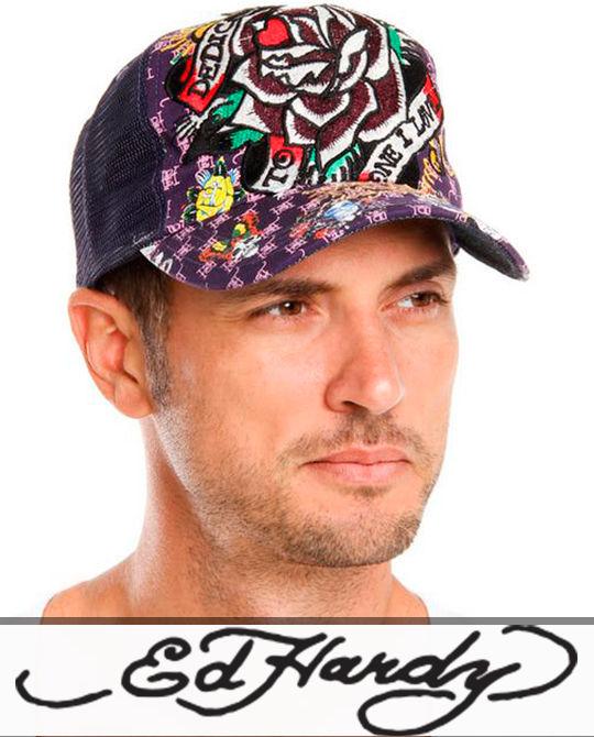 Кепки Ed Hardy - Stockhouse - одежда оптом - сток оптом - купить кепки блайзеры бейсболки оптом - сток бейсболки