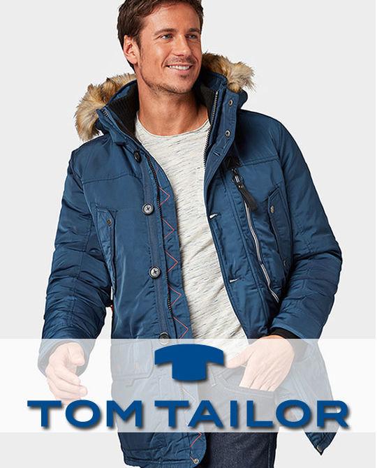 Мужские зимние куртки Tom Tailor - сток оптом - одежда оптом - теплые куртки - зимняя одежда для мужчин