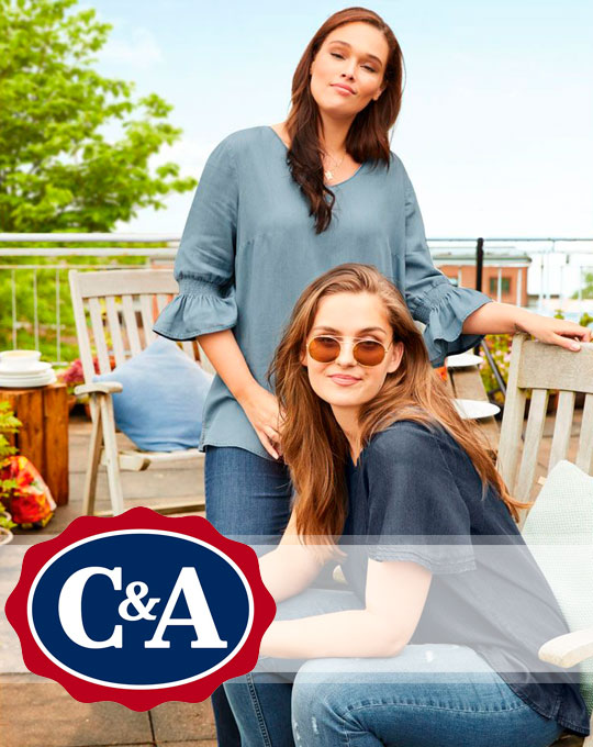 Микс женские футболки C&A - Stockhouse - одежда оптом - сток оптом