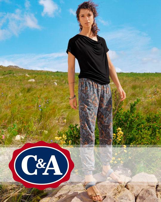 Микс женские летние штаны C&A