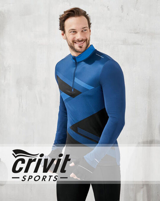 Style Спортивный реглан на молнии  CRIVIT