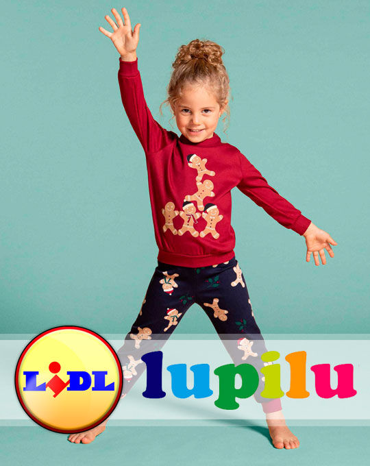 Детская стоковая одежда Детский Микс пижамы Lupilu-Pepperts
