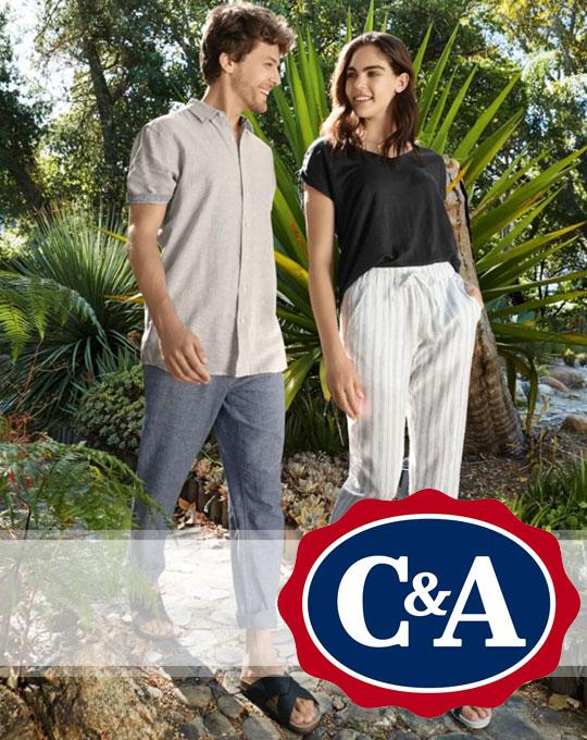 Микс мужской и женской одежды C&A on-line